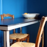 pourquoi du bleu dans la cuisine