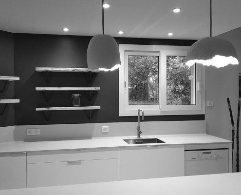 Sandrine Desnoues architecte d'interieur montpellier - Cuisine sur mesure Castelnau le lez